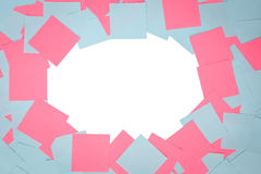 Abstract geometric background paper colored stickers Stock Photos