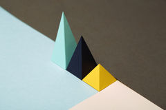 Abstract geometric background. Abstract geometric paper plastic, for use in infographics stock photography