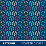 Abstract geometric background pattern with isometric cubes.  Royalty Free Stock Photography