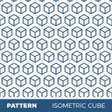 Abstract geometric background pattern with isometric cubes.  Royalty Free Stock Image