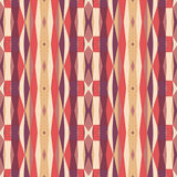 Abstract geometric background in pink and orange colors. Seamless vector pattern Stock Photo