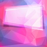 Abstract geometric background with polygons and Stock Photo