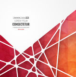 Abstract geometric background with polygons. Info graphics composition with geometric shapes. Stock Image
