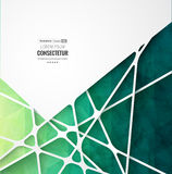 Abstract geometric background with polygons. Info graphics composition with geometric shapes. Stock Images