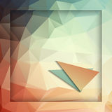 Abstract geometric background with polygons Stock Images
