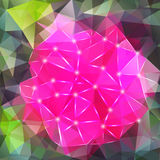 Abstract geometric background with polygons Stock Image