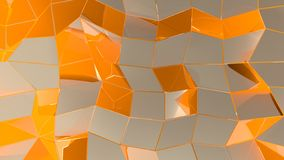 Abstract geometric background with rectangles and lines stock illustration