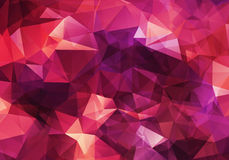 Abstract geometric background. Abstract red geometric light background Royalty Free Stock Photo