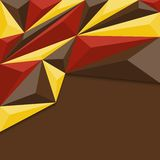 Abstract geometric background in red, yellow and brown. Royalty Free Stock Photography
