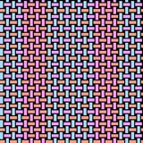Regular rectangles pattern orange violet blue netting Stock Photography