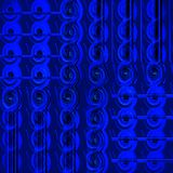 Regular spirals and stripes pattern dark blue and black. Abstract geometric background. Regular spirals and stripes pattern dark blue and black Royalty Free Stock Images