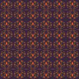Seamless retro pattern orange and purple royalty free illustration