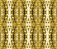 Seamless ellipses pattern ocher brown beige. Abstract geometric background, seamless ellipses pattern in yellow ocher and brown shades on beige Stock Images