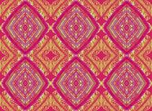 Seamless diamond pattern purple ocher. Abstract geometric background, seamless ornate diamond pattern red purple and ocher Royalty Free Stock Photography
