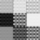 Abstract geometric background. Seamless pattern. Black and white checked print Stock Image