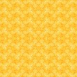 Seamless regular pattern yellow orange centered. Abstract geometric background, seamless pattern yellow orange, wickerwork decoration, single color Royalty Free Stock Image