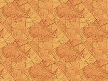 Seamless pattern wood fragments brown shades. Abstract geometric background, seamless square fragments in light brown and orange shades Stock Image