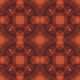 Abstract geometric background - seamless vector pattern in brown colors. Ethnic boho style. Mosaic ornament structure. Carpet frag Stock Photography
