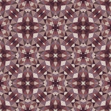 Abstract geometric background - seamless vector pattern in dark colors. Ethnic boho style. Mosaic ornament structure. Royalty Free Stock Photo