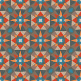 Abstract geometric background - seamless vector pattern. Ethnic boho style. Mosaic ornament structure. Carpet fragment Royalty Free Stock Photography