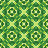 Abstract geometric background - seamless vector pattern in green colors. Ethnic boho style. Mosaic ornament structure. Royalty Free Stock Image
