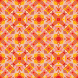Abstract geometric background - seamless vector pattern in orange colors. Ethnic boho style. Mosaic ornament structure. Royalty Free Stock Photo