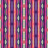 Abstract geometric background. Seamless vector pattern. Ornament illustration with vertical stripes Stock Photography