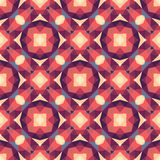 Abstract geometric background - seamless vector pattern in red and pink colors. Ethnic boho style. Mosaic ornament structure. Royalty Free Stock Images
