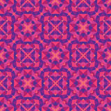 Abstract geometric background - seamless vector pattern in violet and pink colors. Ethnic boho style. Mosaic ornament structure. Stock Photos