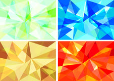 abstract geometric background set Stock Photo