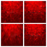 Abstract geometric background set Stock Photography