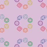 Abstract geometric background, seven human chakras,  seaml Royalty Free Stock Photo