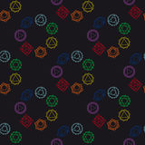 Abstract geometric background, seven human chakras, vector seaml Royalty Free Stock Images
