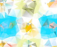 Abstract geometric background space. Abstract geometric background. Multicolored triangles. Beautiful inscription. Triangle background with bright lines. Pattern royalty free illustration