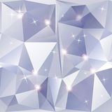 Abstract geometric background of sparkling blue triangles Royalty Free Stock Photography