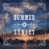 Abstract Geometric background. Summer abstract background poster Royalty Free Stock Photo