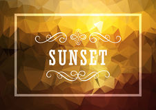 Abstract Geometric background. Summer abstract background poster Stock Photo