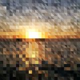 Abstract geometric background - sunrise Stock Image