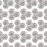 Abstract geometric background with swirls. stock illustration