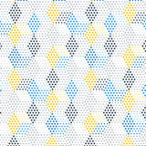 Abstract geometric background. Template with blue hexagons and dots, vector illustration stock illustration