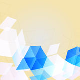Abstract geometric background. Abstract template background with blue and white isolated on beige color Royalty Free Stock Images