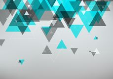 Abstract Geometric Background. Trendy Overlapping Triangles. Vector Illustration Stock Photos