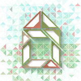 Abstract geometric background with triangles Royalty Free Stock Images