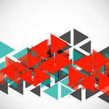 Abstract geometric background. With  triangles. Modern style. Vector illustration. Eps 10 Stock Images