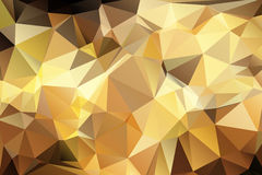 Abstract geometric background. Abstract triangular geometry background in golden brown color Stock Photography