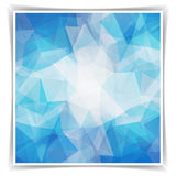 Abstract geometric background with triangular polygons Royalty Free Stock Images