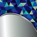 Abstract geometric background of triangular polygons . Royalty Free Stock Image