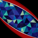 Abstract geometric background of triangular polygons . Stock Images