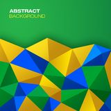 Abstract geometric background. Using Brazil flag colors Stock Illustration