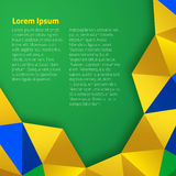 Abstract geometric background. Using Brazil flag colors Royalty Free Stock Photos